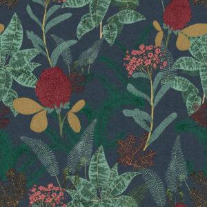 Palmarosa Charcoal Wallpaper