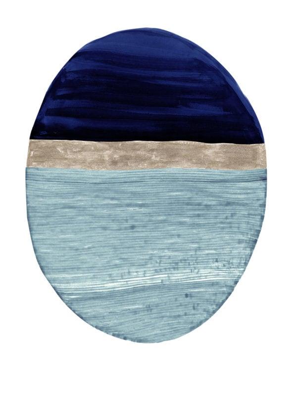 Totem Deep Indigo Wallpaper