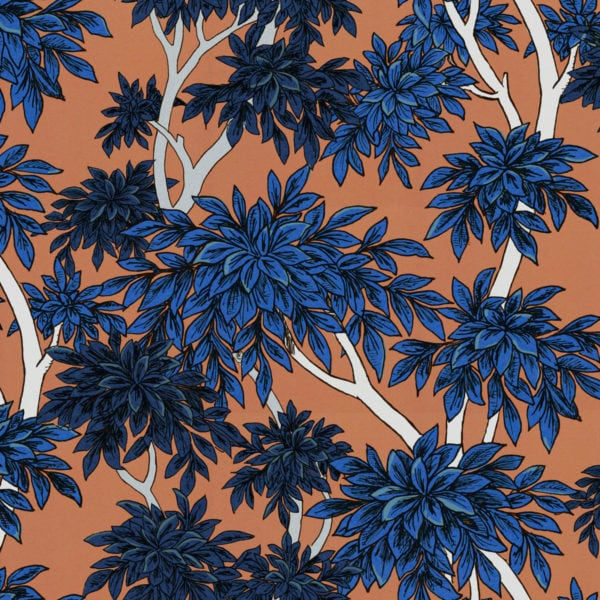 Panache Tangerine Wallpaper