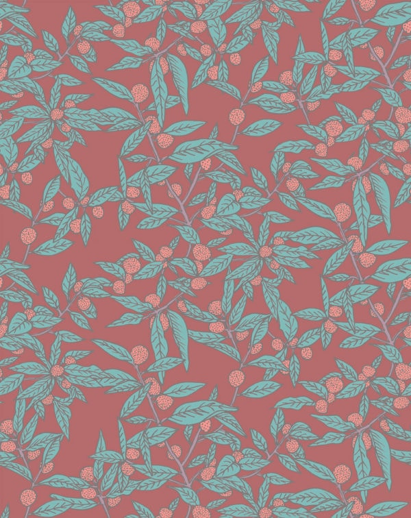 Clementine Raspberry Wallpaper