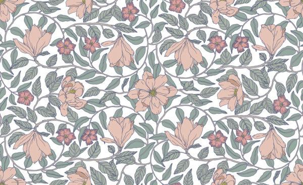 Magnolia Powder Wallpaper