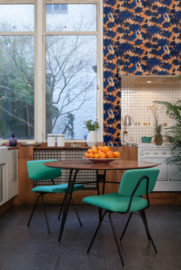 Panache Tangerine Wallpaper