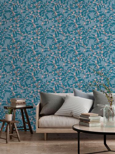 Clementine Royal Wallpaper