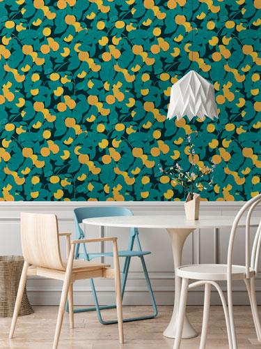 Georgette Charcoal Wallpaper