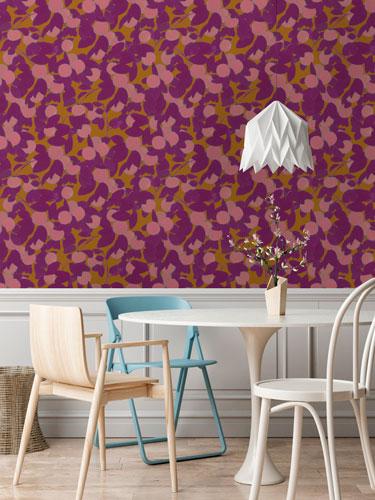 Georgette Tangerine Wallpaper