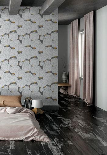 Pivoine Frost Wallpaper