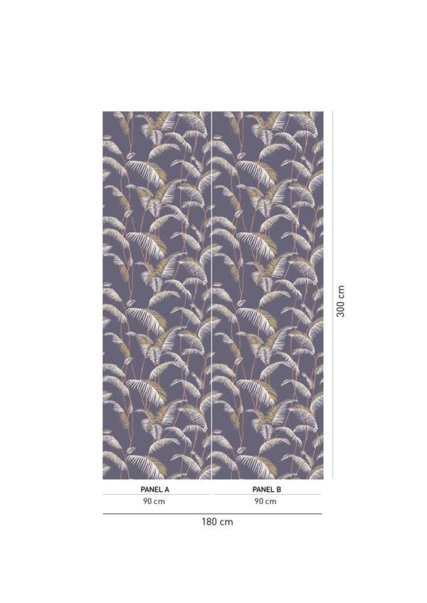 Majorelle Charcoal Wallpaper