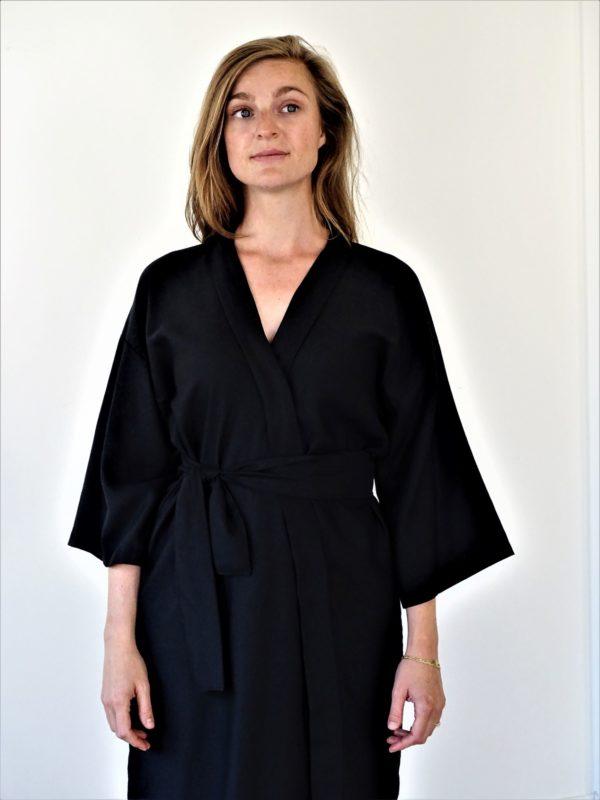 0001 Dress Kimo Bamboo Silk - L2