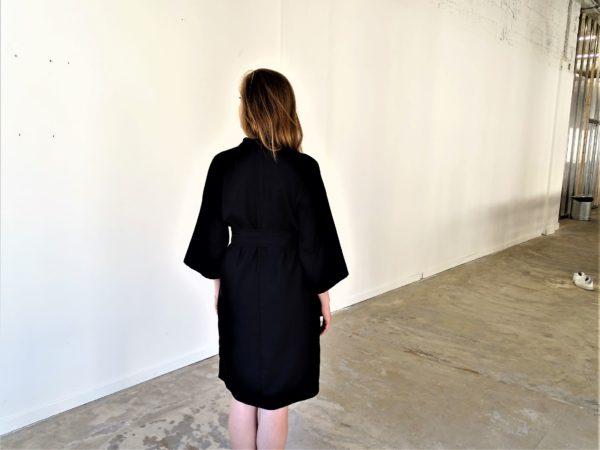 0001 Dress Kimo_Bamboo Silk_black-1