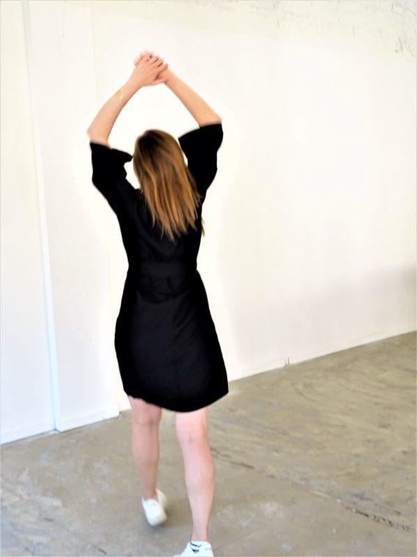 0001 Dress Kimo_Bamboo Silk_black-2