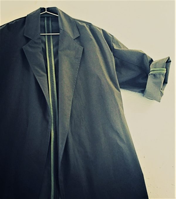 0010 Coat Pockets - Charcoal Organic Cotton