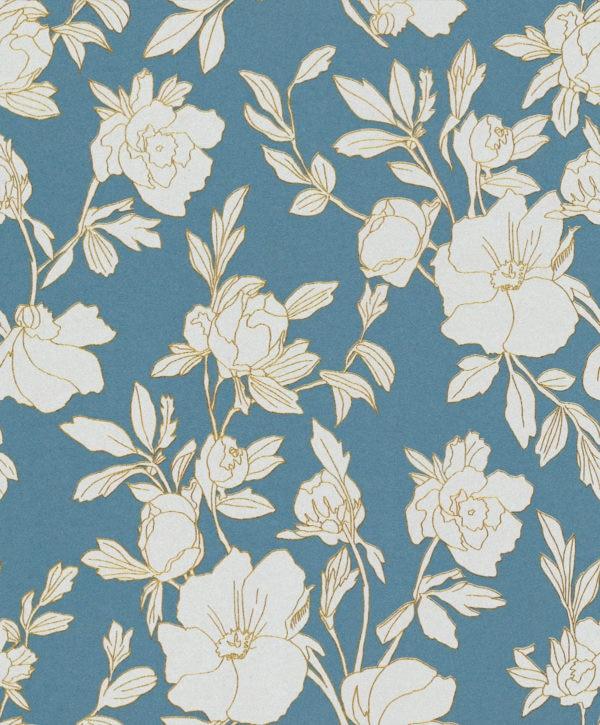 Borage Turquoise Wallpaper
