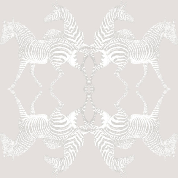 Zebra Ivory Wallpaper