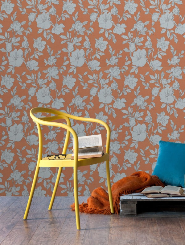 Borage Tangerine Wallpaper