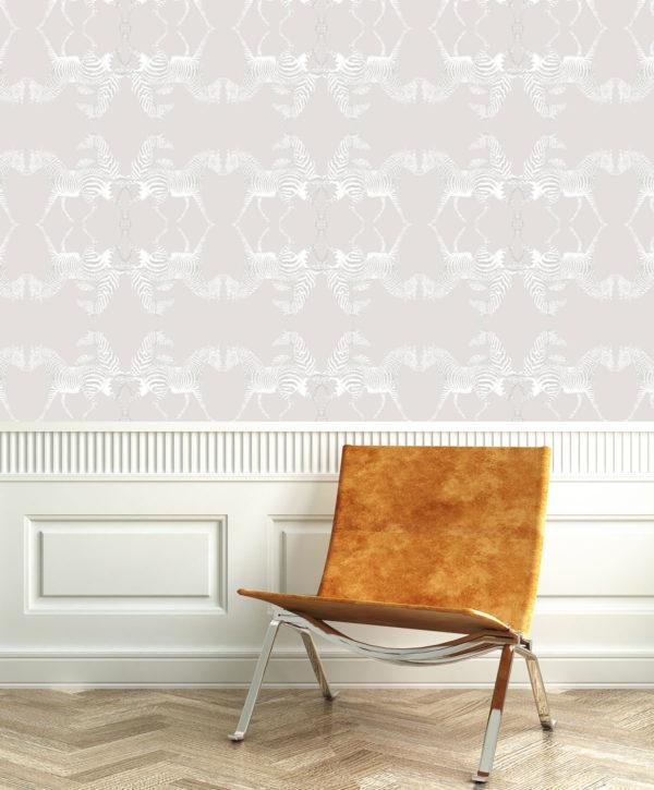 Zebra Ivory Wallpaper