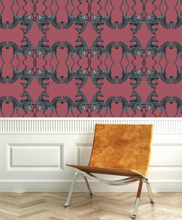 Zebra Raspberry Wallpaper