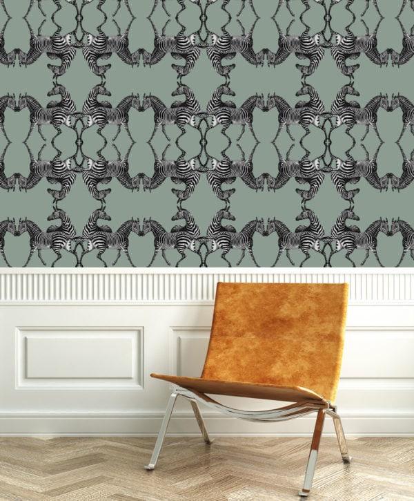 Zebra Riviera Wallpaper