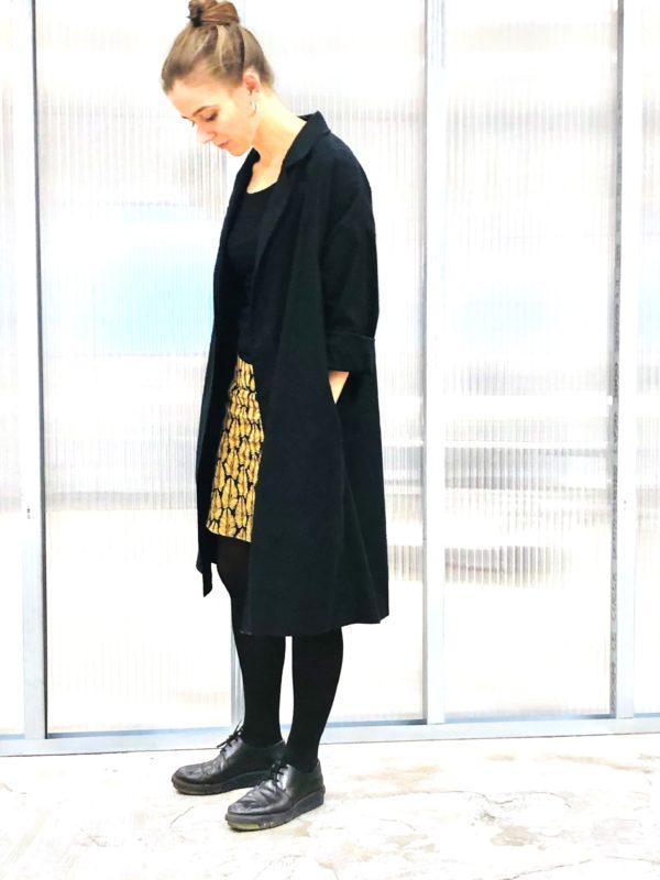 0010 Coat Pockets - Black Orgnaic Cotton Twill