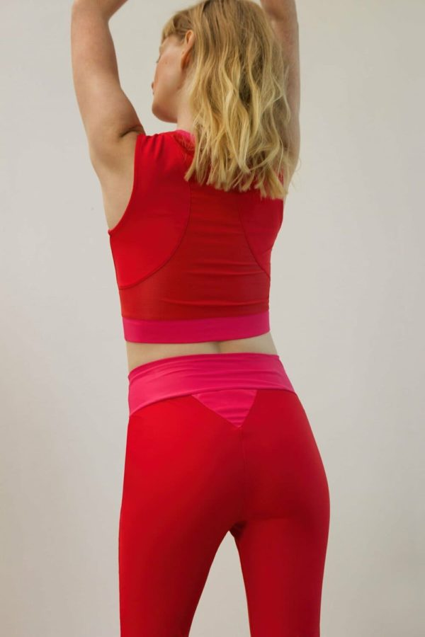 long-line halter red