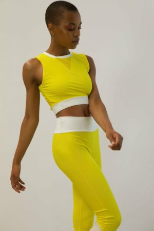 long-line halter yellow