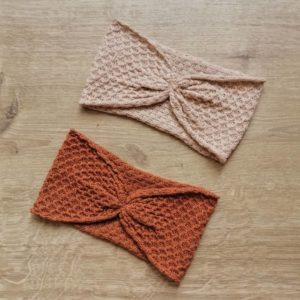 headband alma in peanut and caramel