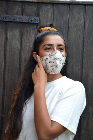 Ornament hemp sustainable face mask