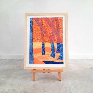 sérigraphie - 6 couleurs - format 29x42 cm - papier 300gr