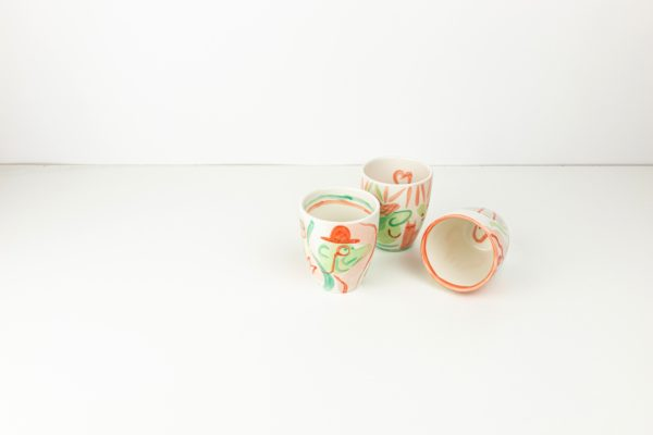 ABC Cups painted by Eva Lynen