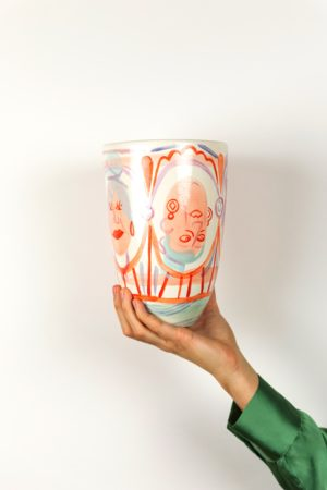 Vase painted by Eva Lynen