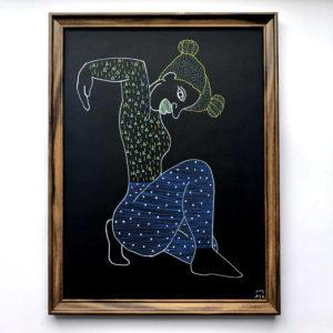 silhouette humaine colorée sur fond noir
