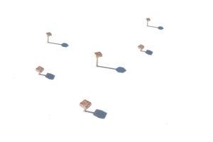 Mini earrings gold plated