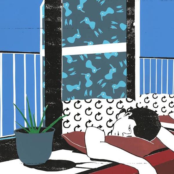 portrait B (detail) of illustrator Toon Delanote